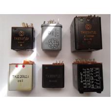 Любые реле отечественного производства с содeржанием серебра